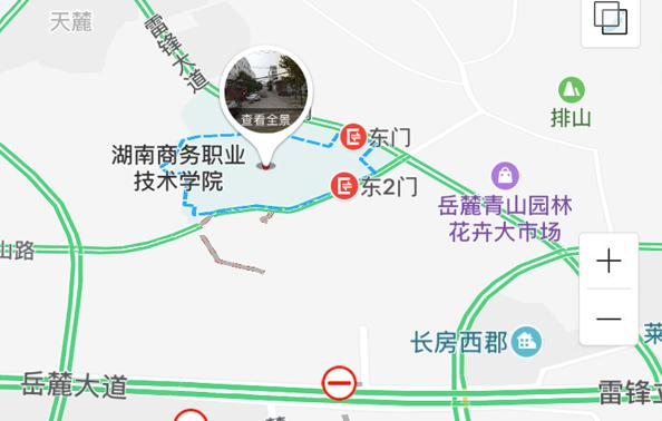 長沙考區2018年執業藥師考試考點地圖