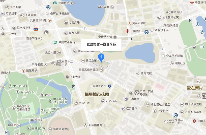 武漢市2018年度執業藥師資格考試考點地圖