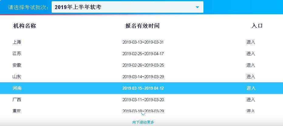 河南2019年上半年軟件水平考試報名時間