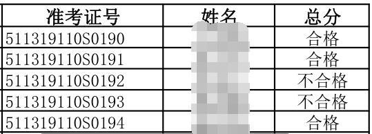2019年6月17日攀枝花臨床執業醫師實踐技能考試成績