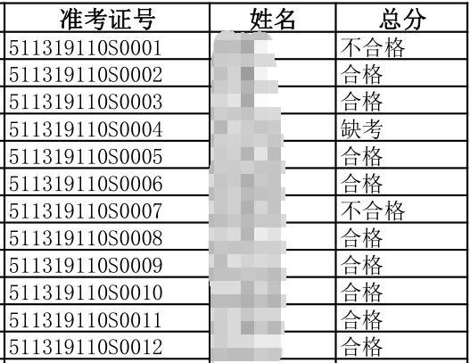 2019年6月16日攀枝花臨床執業醫師實踐技能考試成績