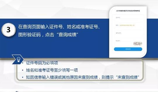中国卫生人才网2019年卫生资格考试成绩查询途径