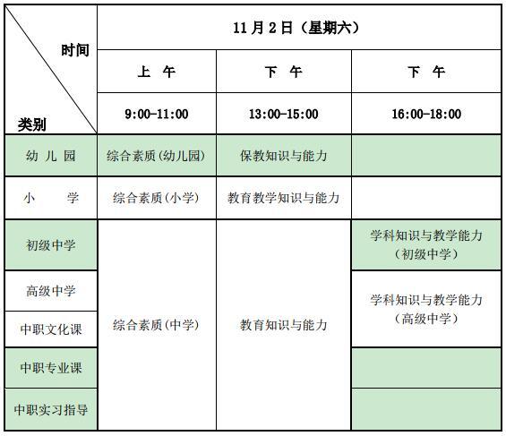 2019下半年寧夏教師資格筆試報名公告