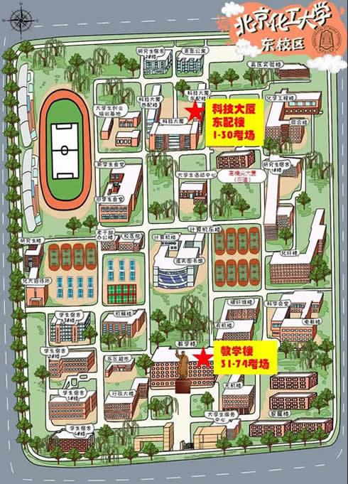 北京化工大學2020考研地點