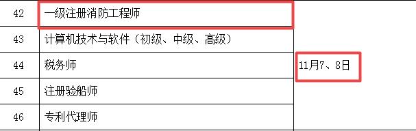 2020一级消防工程师考试时间.png