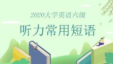 2020年6月大學英語六級聽力常用短語匯總
