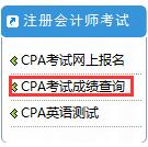 注册会计师考试成绩查询