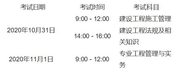 2020年廣西省二級建造師考試安排