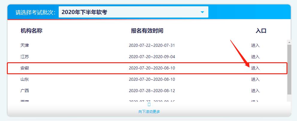 2020年安徽軟考高級職稱網上報名入口已開通
