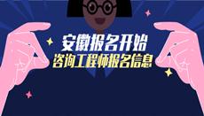 2020年安徽咨询工程师考试报名信息汇总