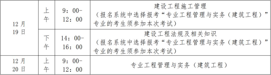 2020贵州二建考试时间