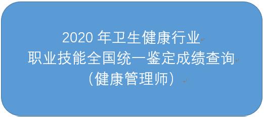 2020年健康管理师成绩查询入口