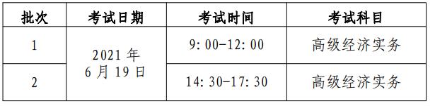 2021年北京高级经济师考试报名通知(4月12日至4月18日)