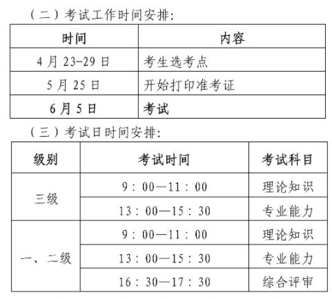 河南地区安全评价师考试时间