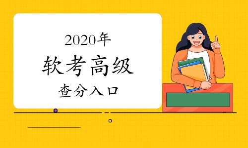 2020年軟考高級考試成績查詢入口開通了嗎?