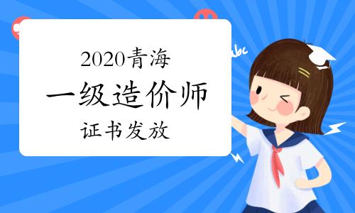 2020年度青海一級造價工程師資格證書發放有關情況通知