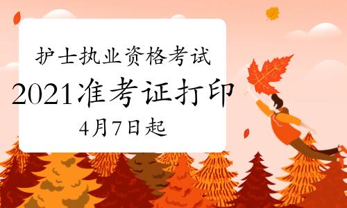 中国卫生人才网2021年护士执业资格考试准考证打印入口4月7日开通!