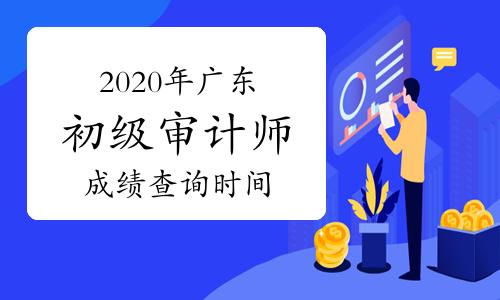 2020年广东初级审计师成绩查询时间预计