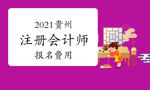 2021年贵州注册会计师考试报名费用