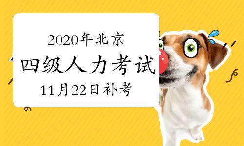 2020年北京四级人力资源管理师考试补考11月22日