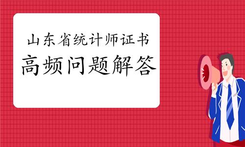 山东省统计师证书高频问题解答