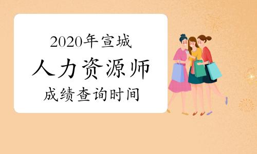 2020年安徽宣城人力资源管理师成绩查询已公布!