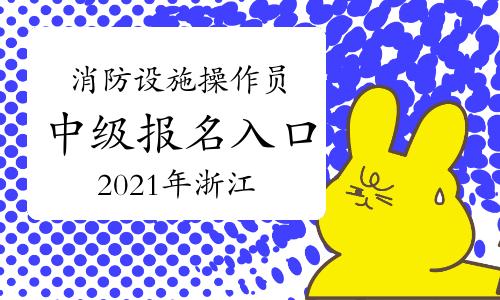 2021年浙江中级消防设施操作员报名入口