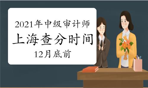 2021年上海中级审计师查分时间12月底前