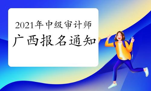 2021年广西中级审计师报名考务工作通知