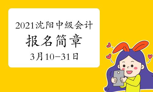 2021年辽宁沈阳市中级会计职称报名简章公布(3月10日至3月31日)