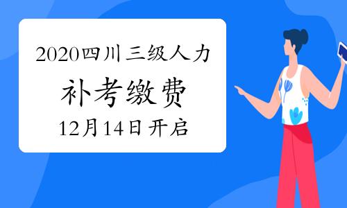 2020年四川三級人力資源管理師考試補考繳費從12月14日開啟