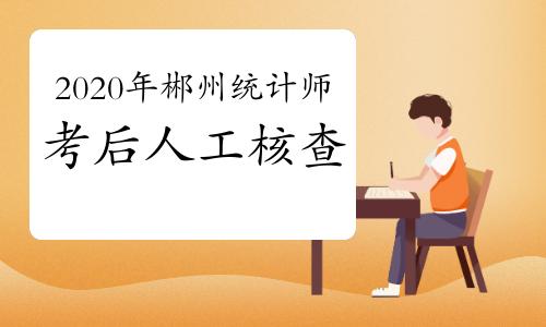 2020年郴州统计师考后人工核查2021年1月11日开始