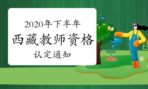 2020年下半年西藏教師資格證認定通知