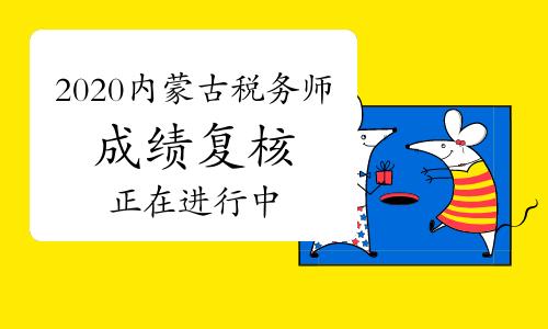 2020年内蒙古税务师成绩复核正在进行中
