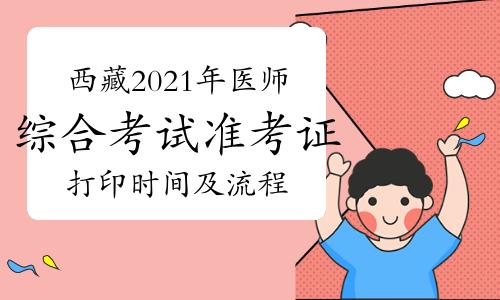 西藏2021年口腔执业医师综合考试准考证打印时间及流程公布