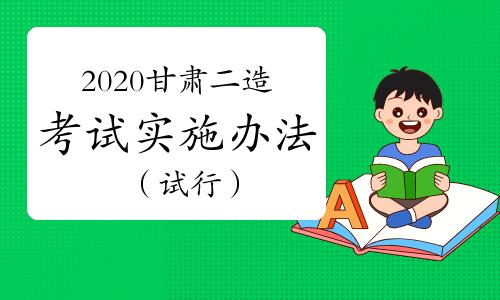 2020甘肃二级造价工程师职业资格考试实施办法(试行)