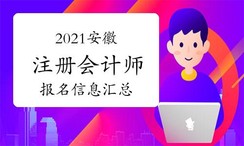 2021年安徽省注册会计师报名信息汇总(2月26日)