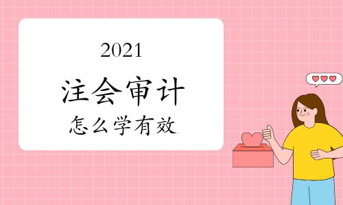2021注会审计怎么学有效?